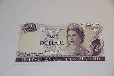 NEW ZEALAND 2 DOLLARS ND 1977-1981 P 164 d UNC