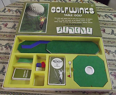 Gioco in scatola vintage GOLFWINKS GOLF WINKS da Waddingtons casa del Monopoli