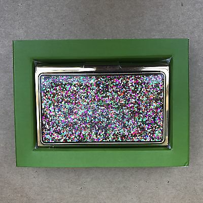 Kate Spade Simply Sparkling Business Card Holder NEW