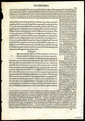 1492 Incunable Leaf Lot (3) 6th Century Latin Grammar of Priscian Algeria Turkey