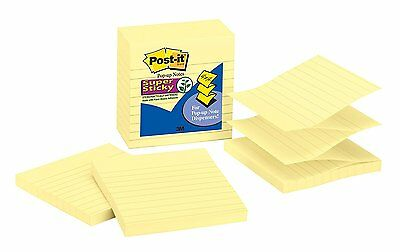 Post-it Super Sticky Pop-up Notes, 4 x 4-Inches, Canary Yellow, Lined,
