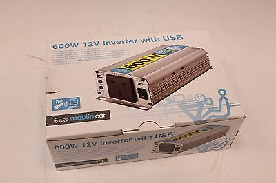 600W 12V Car Inverter With USB From Maplin *WE ARE A SHOP*