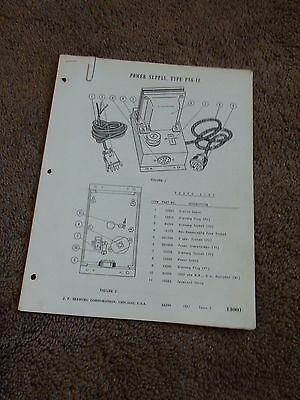 Seeburg Power Supply PS6-1Z Service Manual Parts List Wiring PS61Z