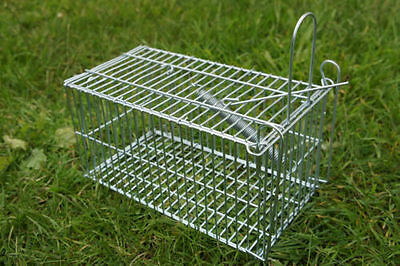 Rat Cage Trap Humane Live Animal Catcher No Poison Pest Control Indoor/Outdoor