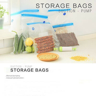 Professional Vacuum Food Storage Bag Sealer 5pcs Set Bags Pump Reusable Packages