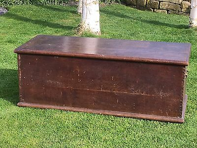 Superb Antique Oak Chest Livery Box Trunk Storage Coffee Table