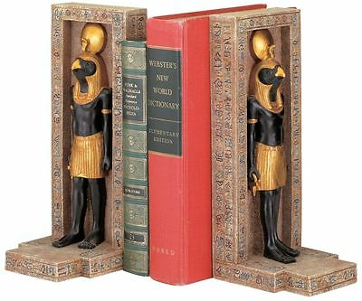 God of Sky Light Goodness Horus Centerpiece Egyptian Ancient Scribes Bookends