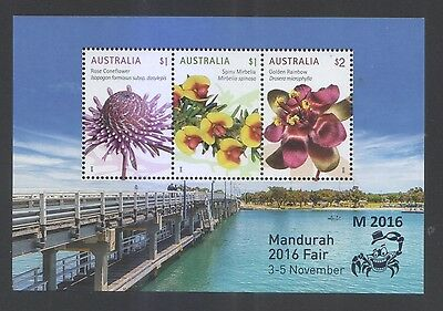 Australia 2016 Mandurah 2016 Fair (Wildflowers)Souvenir Sheet Of 3 Stamps Mint