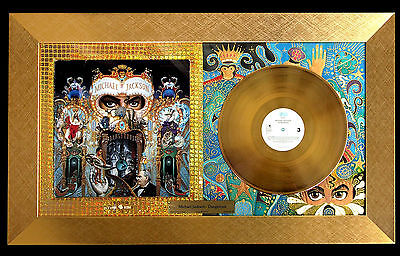 Michael Jackson Dangerous Framed Gold  Lp Original Pop Art Music Memorabilia