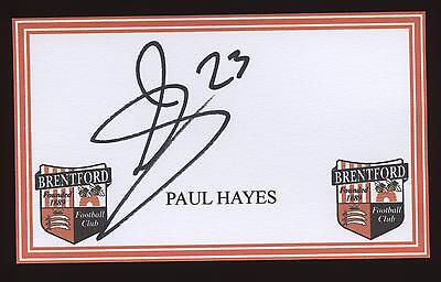 Paul Hayes Brentford crested card.