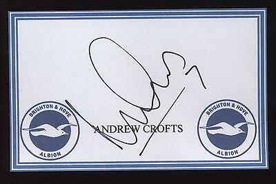 Andrew Crofts signed Brighton crested card.