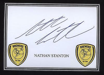 Nathan Stanton signed Burton crested card.