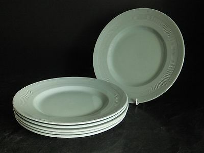 """VINTAGE WOODS WARE BERYL ( GREEN ) ~ 6 x 9"""" LUNCH OR SALAD PLATES ~ UTILITY"""