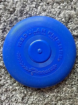 Vtg 1966 WHAM-O Regular Frisbee Flying Disc Saucer Toy USA Blue