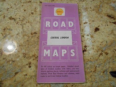 Shell road maps of Central London Sheet #7  free shipping!!