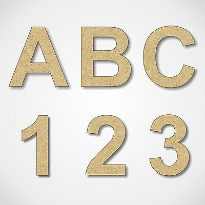 MDF Letters Numbers Wooden Decoration Words 3mm Thick MDF Arial Alphabet