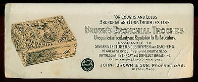 1890's Brown's Bronchial Troches for Coughs and Colds - Boston,MA