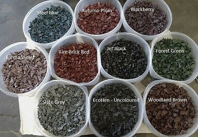 Decorative Colour chip, Rubber Play Bark, Safe play surface Soft Mulch - 750kg
