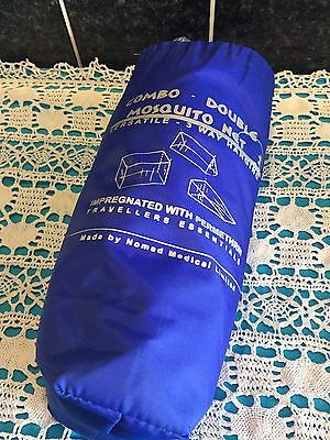 Nomad Medical Combo Double Mosquito Net. 3 Way Hanging, Impregnated With Permeth