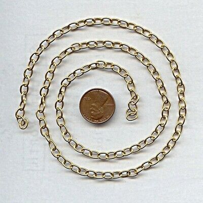 3 FEET VINTAGE SOLID BRASS 6x4mm. CABLE CHAIN - JEWELRY MAKING & CRAFTING CH46