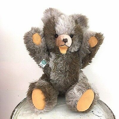 "Hermann Teddy Bear Original Open Mouth W. Germany Jointed 16""  Growler"