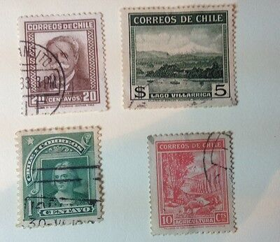 CHILE;  Small Lot. Early 20th Century. Used.