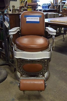 Rare Antique 1920's Theo A Koch Barber Chair