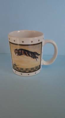 Vintage Lowell Herrero Mug with Leaping Cat; Vandor; 1986; Japan