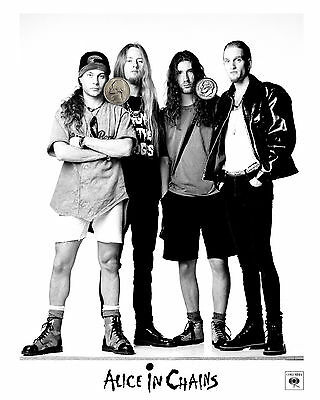 ALICE IN CHAINS PRESS PUBLICITY PROMO GLOSSY 8x10 PHOTO REPRINT 90's GRUNGE!!