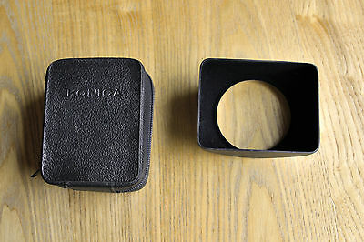 Konica metal square lens hood for 35mm - inc Konica case