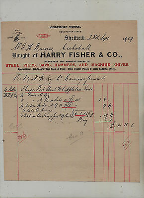 Sheffield  Steel  Manufacturers  Invoice.