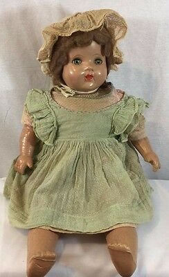 """Antique Doll with clothes  25"""" Inches Doll - Composition"""