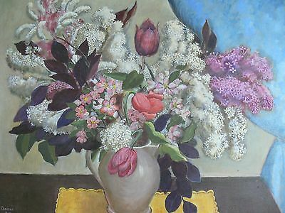 Original Still Life Oil Painting by Listed Artist Dorothy Eaton WPA