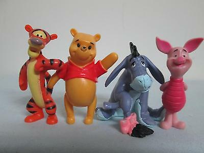 "2.5"" Disney Winnie The Pooh Tigger Eeyore Piglet Cake Toppers Decorations LOT B"