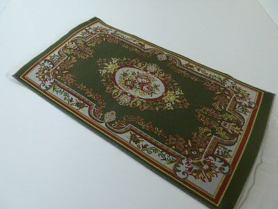 Dolls House Emporium Miniature 1:12th Scale Lounge Green Patterned Rug (5591)