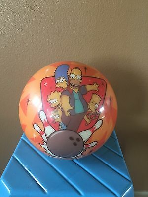 The Simpsons Homer Rare Cartoon Bowling Ball with Marge,Lisa,Maggie & Bart 10 Lb