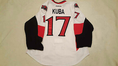 Ottawa Senators Game Used Worn Road White Jersey Filip Kuba 17 All Star Patch