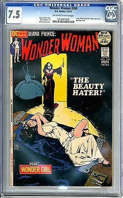 Wonder Woman #200  CGC  7.5  VF-  off -white to white pages