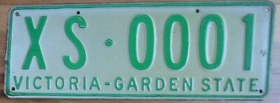 VIC Victoria Australia  car number plate  XS 0001