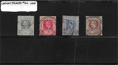 Lot of 4 Cayman Islands Used Edwards VIII Stamps Scott # 3 - 6 #98883 X R