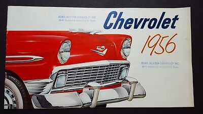 1956 Chevrolet Car Sales Brochure Catalog Bel Air Two-Ten One-Fifty White Cover