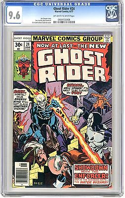 Ghost Rider #24  CGC 9.6 NM+  off -wht to wht pgs Enforcer App. 6/77 G.Kane Covr
