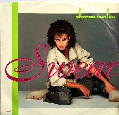 SHEENA EASTON Swear  ORIG 1984 USA ISSUE Picture  Sleeve Vinyl Single
