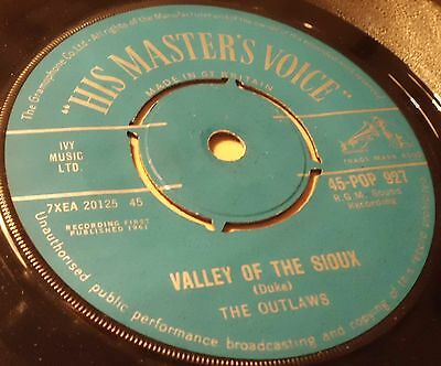 "Outlaws Valley Of The Sioux / Crazy Drums 7""  Vinyl  Combined Postage"