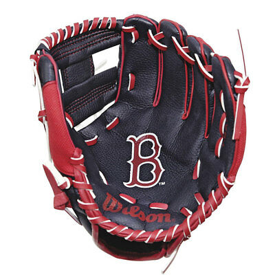 WILSON youth boston red sox baseball glove [black/red]