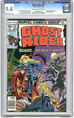 Ghost Rider #31  CGC 9.4 NM  off -wht to wht pgs 1st Full Bounty Hunter App. Dr.