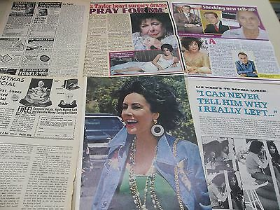 Elizabeth Taylor lot of  clippings #MC66