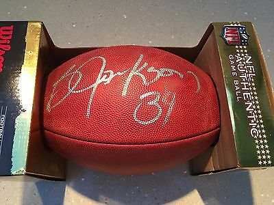 Signed Original Bo Jackson Nfl Wilson Football! Raiders Nike Bo Knows Mint!