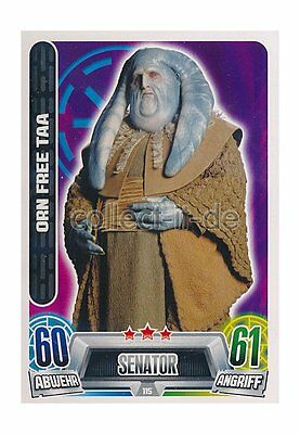 Force Attax Movie Cards 2 115 - ORN FREE TAA - Senator - Republik