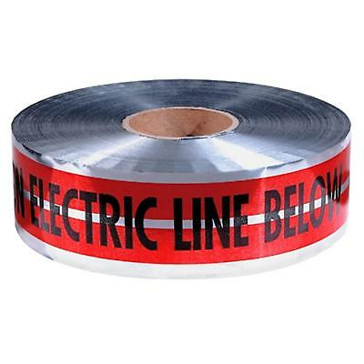 "31-107 Empire 3""X1000' Red Prem ""Caution Electric Line Below"" Pack of 4"